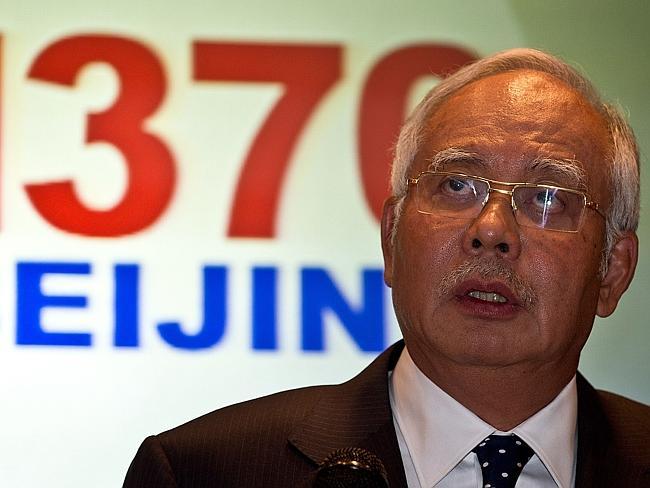 Thủ tướng Najib Razak trong cuộc họp báo